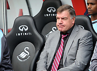 Barclays Premier League, Swansea City (white) V West Ham United, 05/08/12, Liberty Stadium Swansea. <br /> Pictured: West Ham manager Sam Allardyce<br /> Picture by: Ben Wyeth / Athena Pictures<br /> Athena Picture Agency<br /> info@athena-pictures.com