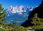 Austria, Styria, view from Reiteralm Panorama Trail towards Dachstein mountains
