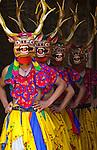 Dancers at the Paro festival, Bhutan
