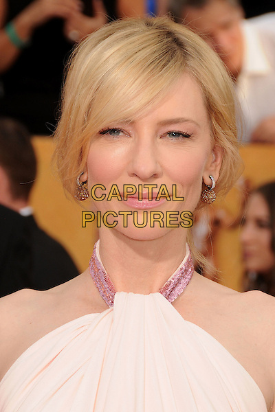 18 January 2014 - Los Angeles, California - Cate Blanchett. 20th Annual Screen Actors Guild Awards - Arrivals held at The Shrine Auditorium. Photo Credit: Byron Purvis/AdMedia<br /> CAP/ADM/BP<br /> ©Byron Purvis/AdMedia/Capital Pictures