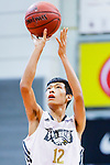 Ho Kuen Chun #12 of Eagle Basketball Team concentrates prior to a free throw during the Hong Kong Basketball League game between Eagle and Nam Ching at Southorn Stadium on June 22, 2018 in Hong Kong. Photo by Yu Chun Christopher Wong / Power Sport Images