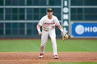 Houston Cougars third baseman Jared Triolo (19) on defense against the Houston Cougars in game two of the 2018 Shriners Hospitals for Children College Classic at Minute Maid Park on March 2, 2018 in Houston, Texas.  The Wildcats defeated the Cougars 14-2 in 7 innings.   (Brian Westerholt/Four Seam Images)