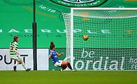 21st April 2021; Celtic Park, Glasgow, Scotland; Scottish Womens Premier League, Celtic versus Rangers; Emma Brownlie of Rangers Women misses an open goal chance