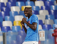 26th September 2021; Maradona Stadium, Naples, Italy; Serie A football, Napoli versus Cagliari :  Victor Osimhen of Napoli celebrates after scoring for  1 -0 - in 11th minute