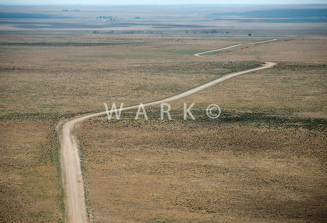 Road through eastern Colorado plains. May 2014. 83932