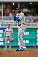 Midland RockHounds pitcher Kyle Friedrichs (21) during a Texas League game against the Frisco RoughRiders on May 21, 2019 at Dr Pepper Ballpark in Frisco, Texas.  (Mike Augustin/Four Seam Images)