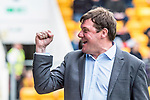 St Johnstone v Partick Thistle…19.08.17… McDiarmid Park… SPFL<br />Tommy Wright celebrates Michael O'Hallorans goal<br />Picture by Graeme Hart.<br />Copyright Perthshire Picture Agency<br />Tel: 01738 623350  Mobile: 07990 594431