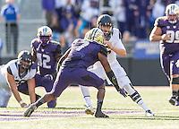 SEATTLE, WA - September 26, 2015. The Cal Bears football team vs the University of Washington Huskies at Husky Stadium in Seattle, Washington. Final score, Cal Bears 30, Washington Huskies 24.