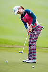 Min Jeong Ko of Korea in action  during the Hyundai China Ladies Open 2014 practice day on December 11 2014, in Shenzhen, China. Photo by Xaume Olleros / Power Sport Images