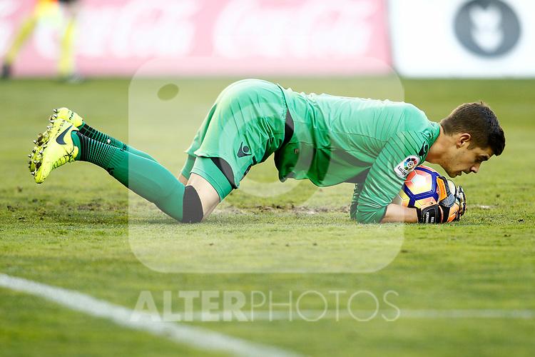 Levante UD's Raul Fernandez during La Liga Second Division match. March 11,2017. (ALTERPHOTOS/Acero)