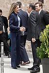 Princess Letizia of Spain with the President of La Rioja Pedro Sanz (r) visit the villages of Haro and San Millan de la Cogolla.May 14,2013. (ALTERPHOTOS/Acero)