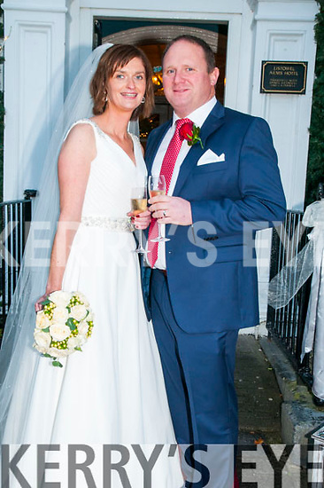 Paula Hannon, daughter of the late Joe Hannon  & Teresa Hannon, Listowel and Gerard O'Flaherty, son of denis & Eileen o'Flaherty, Moyvane who were married in St. Mary's Church, Listowel by Canon Declan O'Connor on Friday last. Best man was Dinny O'Flaherty and the bridesmaid was Eimear Joy. The reception was held in the Listowel Arms Hotel & the couple will live in Listowel.