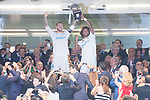 Real Madrid's Sergio Ramos and Marcelo during Supercup of Spain 2nd match at Santiago Bernabeu Stadium in Madrid, Spain August 16, 2017. (ALTERPHOTOS/Borja B.Hojas)