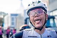 Toms Skujins' (LVA/Trek-Segafredo) happy post-race face (after teammate Pedersen won the race)<br /> <br /> 82nd Gent-Wevelgem in Flanders Fields 2020 (1.UWT)<br /> 1 day race from Ieper to Wevelgem (232km)<br /> <br /> ©kramon