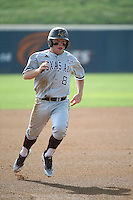 Boomer White (8) of the Texas A&M Aggies runs the bases during a game against the Pepperdine Waves at Eddy D. Field Stadium on February 26, 2016 in Malibu, California. Pepperdine defeated Texas A&M, 7-5. (Larry Goren/Four Seam Images)