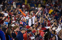 USA Fans. The USMNT tied Costa Rica, 2-2, during the FIFA World Cup Qualifier at  RFK Stadium, in Washington, DC.   With the result, the USMNT qualified for the 2010 FIFA World Cup Finals in South Africa.