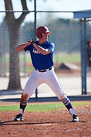 Jake Dykhoff (53), from Wadena, Minnesota, while playing for the Dodgers during the Under Armour Baseball Factory Recruiting Classic at Red Mountain Baseball Complex on December 29, 2017 in Mesa, Arizona. (Zachary Lucy/Four Seam Images)