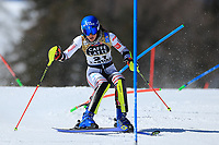 20th February 2021; Cortina d'Ampezzo, Italy; FIS Alpine World Ski Championships, Women's Slalom  Nastasia Noens (FRA)