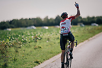 Nikolas Maes (BEL/Lotto-Soudal) in need of assistance <br /> <br /> 98th Brussels Cycling Classic 2018<br /> One Day Race:  Brussels > Brussels (201km)