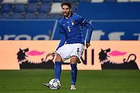 Mannuel Locatelli of Italy in action during the Uefa Nation League Group Stage A1 football match between Italy and Poland at Citta del Tricolore Stadium in Reggio Emilia (Italy), November, 15, 2020. Photo Andrea Staccioli / Insidefoto