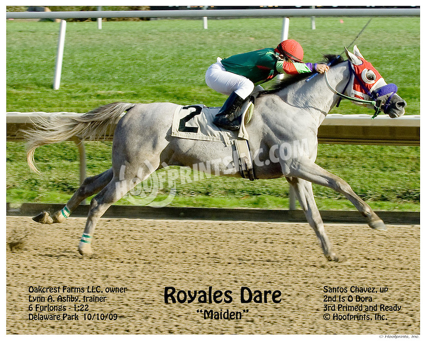 Royales Dare winning at Delaware Park on 10/10/09