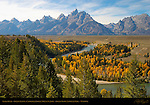 Snake River, Grand Tetons, Cathedral Group, Mount St. John, Grand Teton National Park, Wyoming