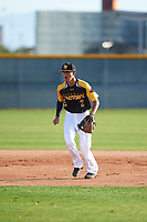 Isaiah Aguilar (2) of Alice High School in Alice, Texas during the Baseball Factory All-America Pre-Season Tournament, powered by Under Armour, on January 14, 2018 at Sloan Park Complex in Mesa, Arizona.  (Zachary Lucy/Four Seam Images)