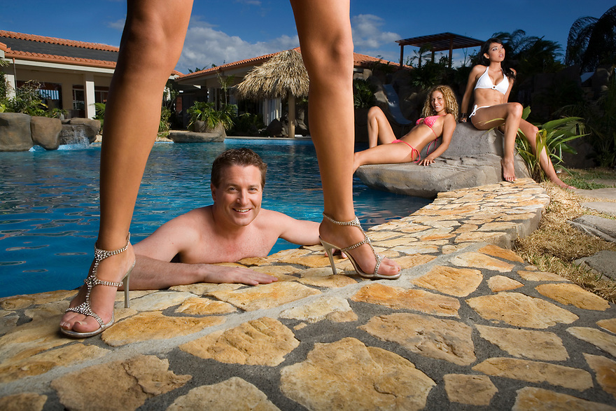 Calvin Ayre, the billionaire founder and CEO of Internet Gaming website Bodog.com photographed on February 20, 2006 at his San Jose, Costa Rica compound for Forbes Magazine.