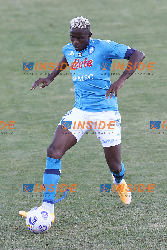 Victor Osimhen of SSC Napoli<br /> during the friendly football match between SSC Napoli and SS Teramo Calcio 1913 at stadio Patini in Castel di Sangro, Italy, September 04, 2020. <br /> Photo Cesare Purini / Insidefoto