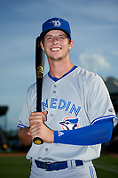 Dunedin Blue Jays Riley Adams (23) poses for a photo before a game against the Bradenton Marauders on May 3, 2018 at LECOM Park in Bradenton, Florida.  (Mike Janes/Four Seam Images)
