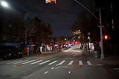 April 12, 2020<br /> Brooklyn, New York<br /> Park Slope<br /> <br /> An empty 7th Avenue at 8 PM during the height of the coronavirus pandemic. More than 10,000 deaths reported throughout the state.