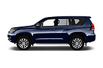 Car driver side profile view of a 2018 Toyota Landcruiser Premium 5 Door SUV