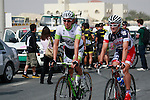 Koen De Kort (NED) Project IT4i and Gregory Henderson (NZL) Lotto-Belisol Team before the start of the 1st Stage of the 2012 Tour of Qatar running from Umm Slal Mohammed to Doha Golf Club, Doha, Qatar, 5th February 2012 (Photo Eoin Clarke/Newsfile)