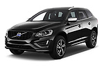 2017 Volvo XC60 R-Design 5 Door SUV Angular Front stock photos of front three quarter view