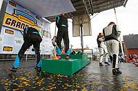 GS Podium, #46 Team TGM, Mercedes-AMG, GS: Hugh Plumb, Owen Trinkler, #69 Motorsports In Action, McLaren GT4, GS: Corey Fergus, Jesse Lazare, #71 Rebel Rock Racing, Chevrolet Camaro GT4.R, GS: Robin Liddell, Andrew Davis, Champagne
