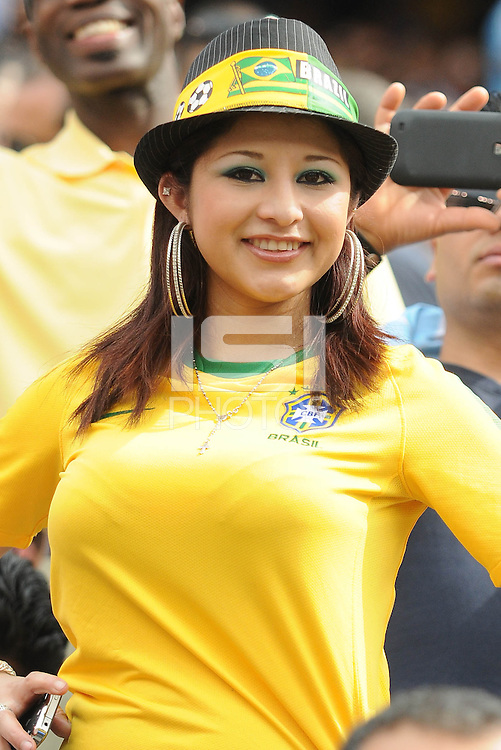 Brazil fan. The Argentina National Team defeated Brazil 4-3 at MetLife Stadium, Saturday July 9 , 2012.