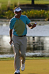 PALM BEACH GARDENS, FL. - Robert Allenby waves to the gallery during Round Three play at the 2009 Honda Classic - PGA National Resort and Spa in Palm Beach Gardens, FL. on March 7, 2009.