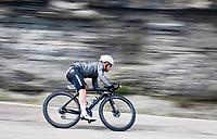 Victor Campenaerts (BEL/Qhubeka ASSOS) descending the Passo Della Calla<br /> <br /> 104th Giro d'Italia 2021 (2.UWT)<br /> Stage 12 from Siena to Bagno di Romagna (212km)<br /> <br /> ©kramon