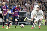 Real Madrid CF's Daniel Carvajal and FC Barcelona's Leo Messi during La Liga match. March 02,2019. (ALTERPHOTOS/Alconada)