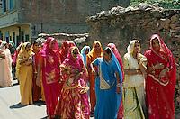 Indien, Udaipur (Rajasthan), Hochzeitsumzug
