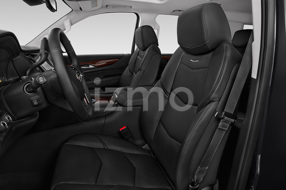 Front seat view of 2017 Cadillac Escalade Luxury 5 Door SUV Front Seat  car photos