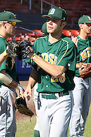 North Dakota State Bisons Joe Axelson #28 during a game vs Bradley Braves at Chain of Lakes Park in Winter Haven, Florida;  March 17, 2011.  Bradley defeated North Dakota State 6-5.  Photo By Mike Janes/Four Seam Images