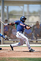 Minnesota Twins Akil Baddoo (36) during a Minor League Spring Training game against the Tampa Bay Rays on March 17, 2018 at CenturyLink Sports Complex in Fort Myers, Florida.  (Mike Janes/Four Seam Images)