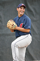 March 20th 2008:  Paolo Espino of the Cleveland Indians minor league system during Spring Training at Chain of Lakes Training Complex in Winter Haven, FL.  Photo by:  Mike Janes/Four Seam Images