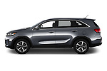 Car Driver side profile view of a 2020 KIA Sorento S-V6 5 Door SUV Side View