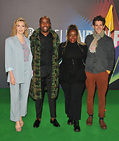 """Charlotte Ritchie, Kiell Smith-Bynoe, Lolly Adefope and Mathew Baynton at the 65th BFI London Film Festival """"The Phantom of the Open"""" world premiere, Royal Festival Hall, Belvedere Road, on Tuesday 12th October 2021, in London, England, UK. <br /> CAP/CAN<br /> ©CAN/Capital Pictures"""