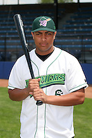 Jamestown Jammers Guillermo Martinez poses for a photo before a NY-Penn League game at Russell Diethrick Park on July 1, 2006 in Jamestown, New York.  (Mike Janes/Four Seam Images)