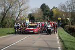 Km0 the start of Stage 4 of Paris-Nice 2021, running 187.5km from Chalon-sur-Saone to Chiroubles, France. 10th March 2021.<br /> Picture: ASO/Fabien Boukla | Cyclefile<br /> <br /> All photos usage must carry mandatory copyright credit (© Cyclefile | ASO/Fabien Boukla)