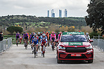 The start of Stage 18 of the Vuelta Espana 2020, running 139.6km from Hipódromo de La Zarzuela to Madrid, Spain. 8th November 2020.  <br /> Picture: Unipublic/Charly Lopez | Cyclefile<br /> <br /> All photos usage must carry mandatory copyright credit (© Cyclefile | Unipublic/Charly Lopez)