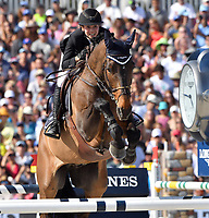 MIAMI BEACH, FL - APRIL 15: Jane Richard Philips at the Longines Global Champions Tour stop in Miami Beach. The winner was Jerome Guery (BE), second place was Alberto Zorzi (IT) and third place was Nicola Philippaerts (BE). Also riding but did not make the finals was Georgina Bloomberg, Jessica Rae Springsteen and Jennifer Gates on April 15, 2017 in Miami Beach, Florida.<br /> <br /> People:  Jane Richard Philips